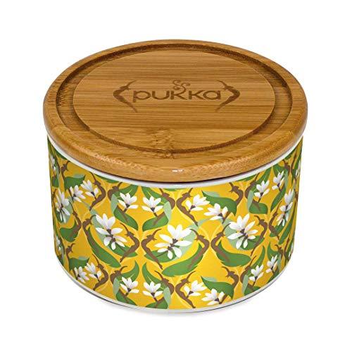 Pukka Keramik Caddy Teedose Kurkuma