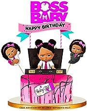 زينة كعك فتاة وردية من Jshend Baby Boss تحمل طابع Baby Girl (BOSS2)