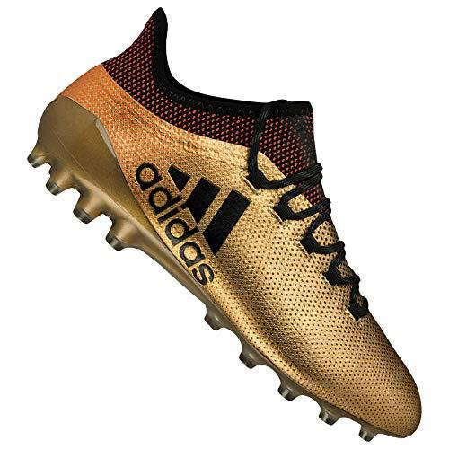 adidas X 17.1 AG, Scarpe da Calcio Uomo, Oro Tagome/Cblack/Solred, 41 1/3 EU