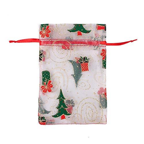 Bolsitas Para Regalos 50 Pcs 10 X 15 Cm 13X18Cm Navidad Cordón Organza Bolsa De Regalo Bolsas De Bolsas De Fiesta De La Boda De Las Mujeres Del Caramelo De La Boda De Las Mujeres-Mi_13 * 18Cm