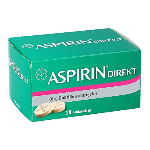 ASPIRIN Direkt Kautabletten 20 St Kautabletten