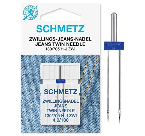 SCHMETZ Nähmaschinennadel Zwillings-Jeans-Nadel 4,0/100 | 130/705 H-J ZWI NE 4.0