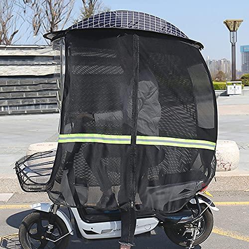 ZWJABYY Paraguas Scooter,Cubierta Impermeable A La Lluvia para Scooter De Movilidad,Cubierta para Sombrilla para Capota De BateríA para AutomóVil,Visera Impermeable para El Sol,Black-B