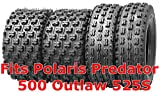 Set 4 ATV Tires 21x7-10 & 20x11-9 Polaris Predator 500 Outlaw 525S Racing Tire