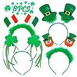 8PCS St. Patrick's Day Snap-on Headband Green Head...