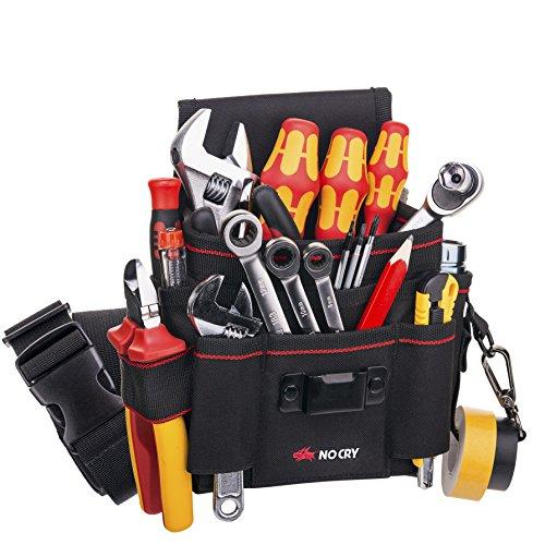 NoCry Heavy Duty Canvas Werkzeugtasche mit 7 geräumigen Taschen, 10 Werkzeugschlaufen,...