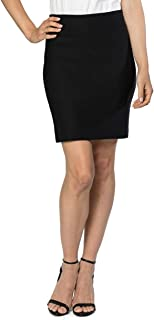 """Velucci Womens Stretchable Mini Pencil Skirt - Above The Knee 19"""" Length Classic Skirt"""