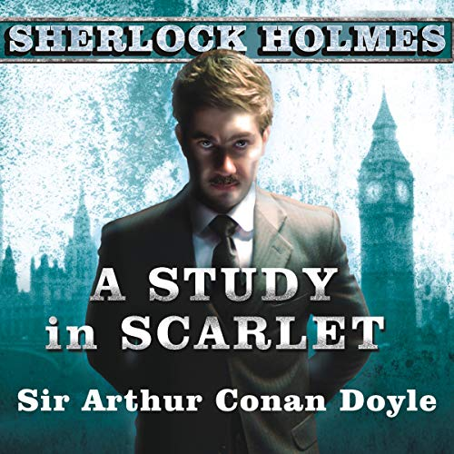 A Study in Scarlet     A Sherlock Holmes Novel              By:                                                                                                                                 Arthur Conan Doyle                               Narrated by:                                                                                                                                 Simon Prebble                      Length: 5 hrs and 17 mins     173 ratings     Overall 4.4