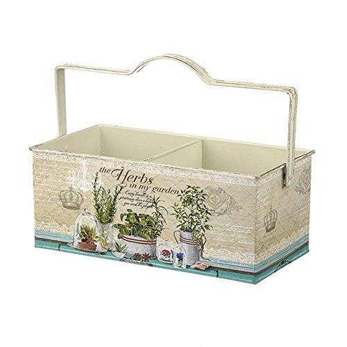 Herbes en métal Double pot de fleurs Idéal pour l'intérieur ou à l'extérieur plantes Taille 25 cm x 13 cm x 10 cm Font Bon écran n'importe où dans votre maison ou jardin