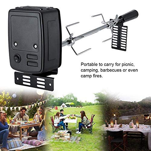 Find Bargain LEEaccessory Universal Rotisserie Kit for Grills, Electric Automatic Rotisserie Grill T...