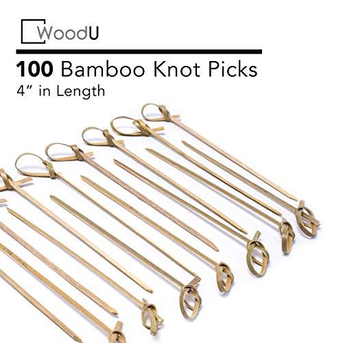 Bamboo Knot Picks 100pc 4