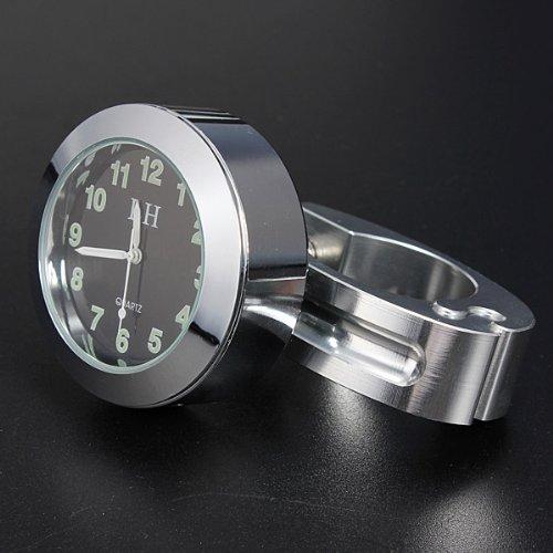 7/8' 1' impermeable moto manillar Mont reloj cromo aleación