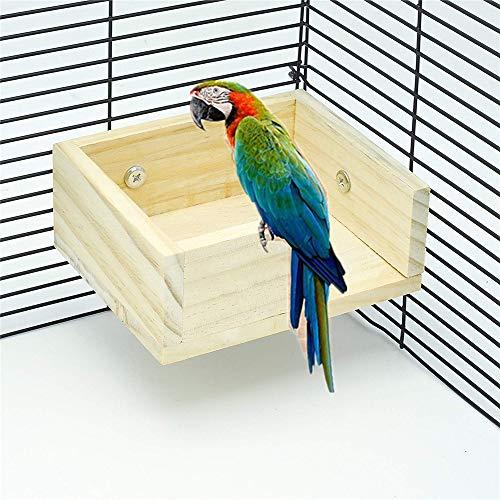 HAORI 3 STUKS Hamster Houtbaars Speeltuin Huisdier Vogel Papegaai Stand Platform Voedsel Feeder Hoek Bureau Klein Dier Vogel Parkiet Speeltuin Stands