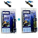 Sawyer Mini - Filtre d'eau pour randonnée, accessoire camping, trekking, MINI set de 2 Noir-Camouflage, purificateur d'eau de robinet