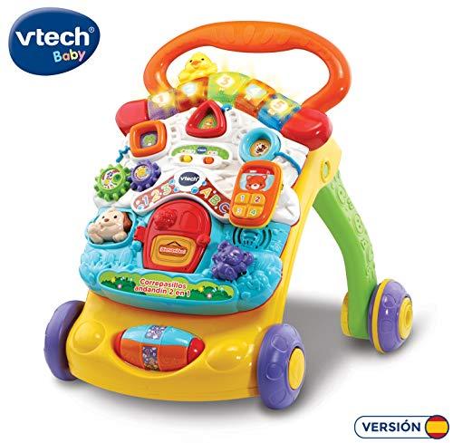 VTech Correpasilos andandandín 2 in 1, verbeterd design, baby-rollator, inklapbaar, kleuren (3480-505622)