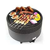 Kbabe Charcoal <span class='highlight'>BBQ</span> Grill Stainless Steel Camping Barbecue Grill Easy Clean Indoor <span class='highlight'>Table</span><span class='highlight'>top</span> <span class='highlight'>BBQ</span> - Black
