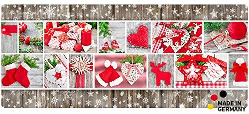 matches21 Küchenläufer Teppichläufer Teppich Läufer Weihnachten Collage Motive 50x120x0,4 cm maschinenwaschbar