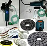 Wet Stone concrete Polisher with diamond granite marble polishing pad silicon carbide strip grinding wheel for metal wood fiberglass surface rust paint oxidation remove repair