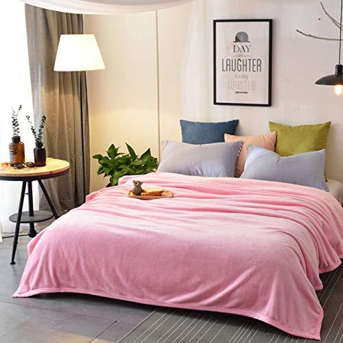 GYTZ Bedsure Mantas, Manta de Microfibra, Suave, Cálida, Resistente a Las Arrugas, No Pierde Color,Pink,150x200cm