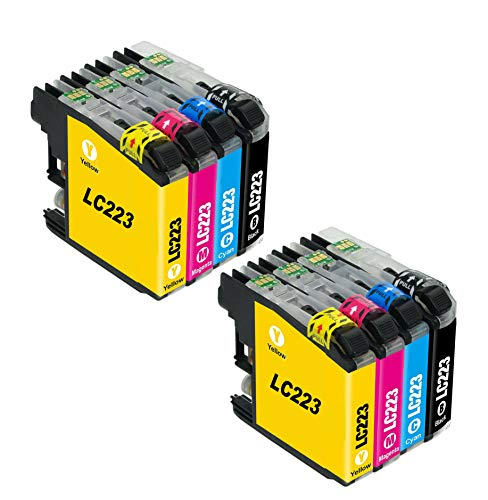Bergsan 8 Druckerpatronen Kompatibel mit Brother LC223 für MFC-J5320DW DCP-J4120DW MFC-J480DW MFC-J5720DW MFC-J5625DW MFC-J4620DW MFC-J4420DW MFC-J880DW MFC-J4625DW DCP-J562DW MFC-J5620DW MFC-J680DW