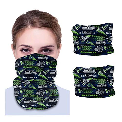 Fremont Die S-eattle S-eahawks Unisex Sun-Proof Face Bandanas,Face Cover,Scarf,Variety face Towel,Microfiber Neck Warmer,Variety Head Scarf,Lightweight,Breathable Outdoors,Running,Cycling 2 PCS