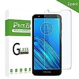 PaceBid 2 Pack Vetro Temperato Compatibile con Motorola Moto E6 [Anti-Graffi] [9H Durezza] [Anti-Impronta] Pellicola Protettiva per Motorola Moto E6