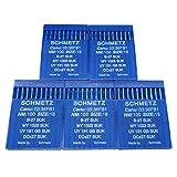 SCHMETZ - Aguja en caja de plástico transparente CKPSMS, 50 piezas Schmetz B-27 DCX27 UY191GS Industrial OVERLOCKER Agujas para máquina de coser (tamaño de la aguja: 14/90)