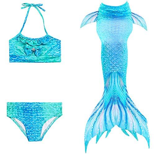 Traje para nadar Xyfushi para adultos con cola de sirena brillante unisex
