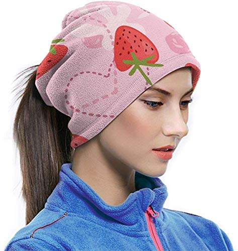 Microvezel Nek Warmer Aardbei Yoghurt Liefde Roze Nek Gaiter Buis Oor Warmer Hoofdband Sjaal Gezicht Masker Balaclava
