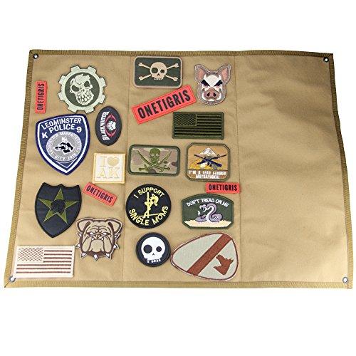 OneTigris Taktische Militär Patch Holder Platte Klett-Teller (Khaki) |MEHRWEG Verpackung