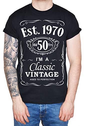 DF 50th Birthday Est. 1969 Vintage Year Homme T-Shirt Noir L