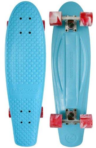 Kryptonics Skateboard Cruiser PP Aqua Torpedo 71.12 cm