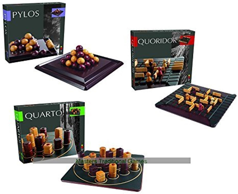 Gigamic Board Games Bundle - Quoridor, Quarto and Pylos B00OLE5MYA Einzigartig | Genial