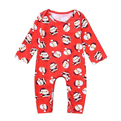 Pochers Pochers Infant Cute Baby Jungen Mädchen Weihnachten Cartoon Santa Strampler Overall Outfits