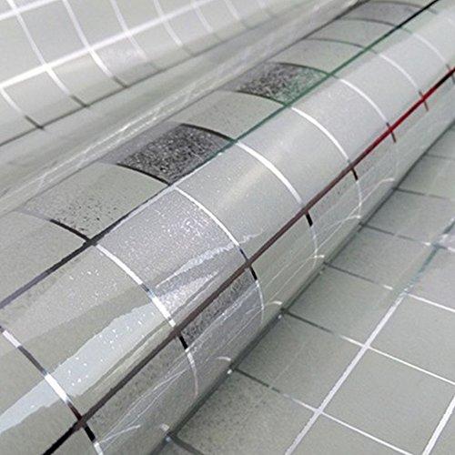 DooXoo - Papel de pared autoadhesivo de aluminio y pl¨¢stico resistente al...