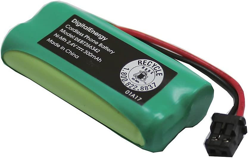 Digital Energy BT-1008 Cordless Max 73% OFF Phone mA 2.4 Volts 2021 model Battery 300