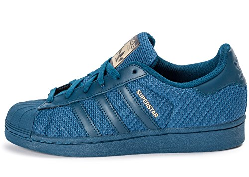 adidas Unisex-Kinder Superstar J Gymnastikschuhe, Bianco Tecste, 38 2/3 EU