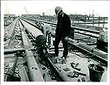 Fotomax - Foto Vintage de la Isla de los Perros, Aeropuerto y ferrocarriles: construcción de Londres Docklands