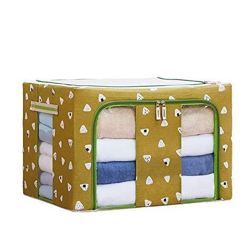 Monba wasserdichte Kleideraufbewahrungsbox, Faltbarer Unterbettkorb, Faltbarer Organizer mit klarem Fenster für Spielzeug, Bettdecken, Decken, Kissen, M