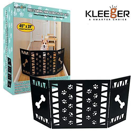 Kleeger Freestanding Folding Dog Gate