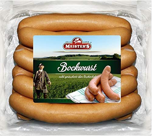 Bockwurst frisch | traditionelles Würstchen geräuchert | Bockwürst im Naturdarm | Curry-Wurst Premium-Qualität 10 x 100g