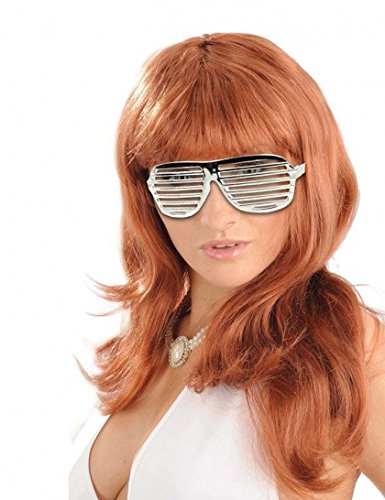 Thequeenwigs Lunettes Disco Shutter Argent