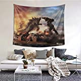 Syifasya Godzilla Tapestry Funny Monster Beast Tapestry King Of The Monsters Wall Hanging Decoration For Apartment Home Art Wall Tapestry For Bedroom Living Room Dorm 60 X 50 Inches