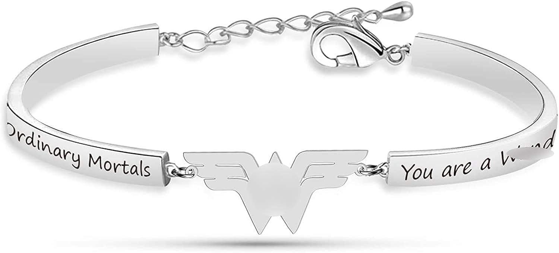 Wonder llavero pulsera She Believe She Could Jewelry Wonder Classic Logo Wonder Regalos para los fans de la película