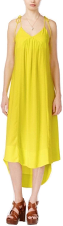 Bar III TieStrap Maxi Dress Electric Comboitronitron XL Yellow