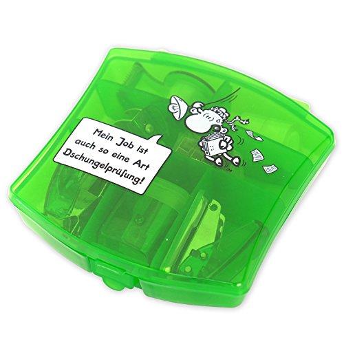 Sheepworld 45162 Mini Kit de Bureau Mon Travail est Aussi Un Examen Art Jungle, Coffret Cadeau, Plastique, métal, Vert, 10,5 x 11 x 3 cm