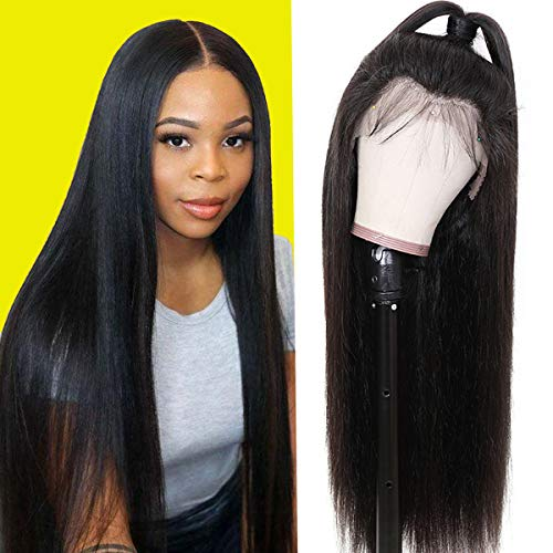 9A Lace Front Wigs Human Hair 16'' Brazilian Straight Lace Front Wigs Human Hair Lace Front Wigs for Black Women Remy Human Hair Wigs with Baby Hair 13x4 Lace Part 150% Density