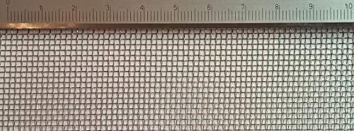 Edelstahl Drahtgewebe mit 1,4mm Maschenweite, 0,25mm Drahtstärke. 1m x 60cm