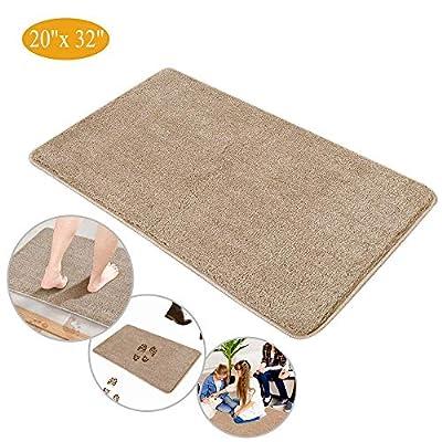 "Indoor Doormat Super Absorbent Mud Mat, Magic Door Mat Non Slip Dirts Trapper Mat, Outdoor XL Doormat for Bathroom, Front, Inside and Entry Machine Wash Gray Rug (32"" x 20"" Large Mat)"