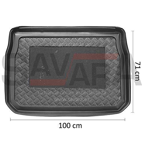 Protector de Maletero específico para Peugeot 2008 (2013-) - Antiderrames, Antideslizante, Lavable. Cubeta, Alfombra de plástico